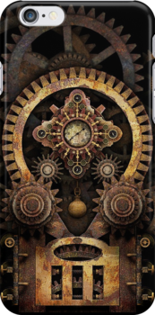 Infernal Steampunk Machine #2B phone cases by Steve Crompton