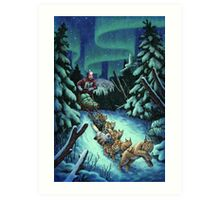 Gilly & the Snowcats Art Print