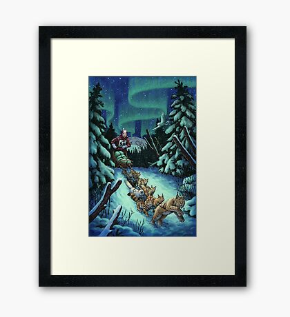 Gilly & the Snowcats Framed Print