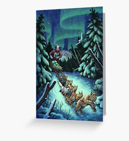 Gilly & the Snowcats Greeting Card