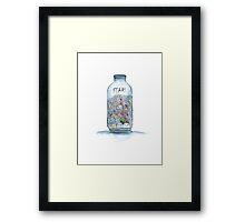 Fears in a bottle 2 Framed Print