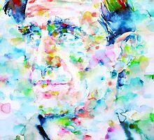 NEAL CASSADY watercolor portrait by lautir