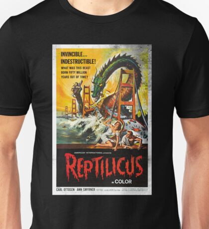 Reptilicus Monster Vintage Movie Poster Unisex T-Shirt