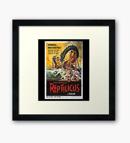 Reptilicus Monster Vintage Movie Poster Framed Print