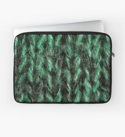 Green Knitted Background  Laptop Sleeve