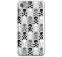 Halloween skull pattern with crossbones iPhone Case/Skin