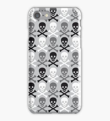 Halloween skull pattern with crossbones iPhone Case/Skin