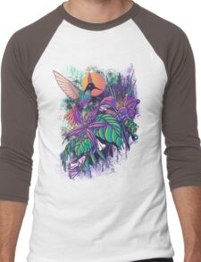 Purple Garden Men's Baseball ¾ T-Shirt