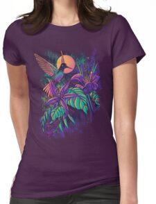 Purple Garden Womens Fitted T-Shirt