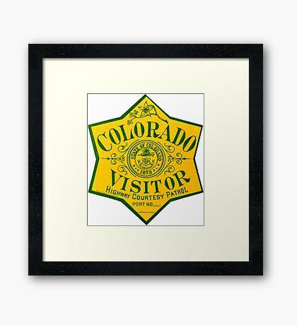 Colorado Visitor Highway Patrol Vintage Decal Framed Print