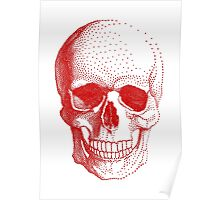 Red human skull Poster