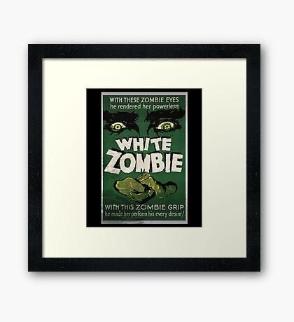 White Zombie Vintage Movie Poster  Framed Print