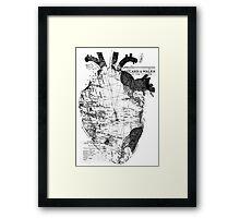 Heart Wanderlust Black and White Framed Print