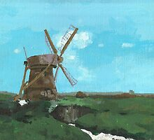 Mill in Landscape by gmhharden