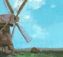 Mill in Landscape Sticker