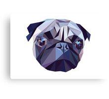 Vector pug Canvas Print