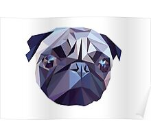 Vector pug Poster