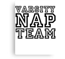 Varsity Nap Team Canvas Print