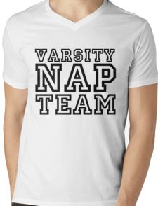 Varsity Nap Team Mens V-Neck T-Shirt