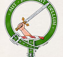 Clan Gunn Scottish Crest by Cleave