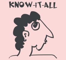 know-it-all - women's secrets, neighbor, meme, comic, cartoon, fun, funny Kids Clothes