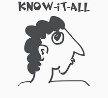know-it-all - women's secrets, neighbor, meme, comic, cartoon, fun, funny Womens Fitted T-Shirt