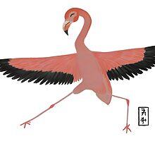 Flamingo Zenimal by Allyson Hicks