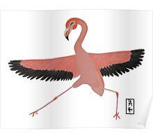 Flamingo Zenimal Poster