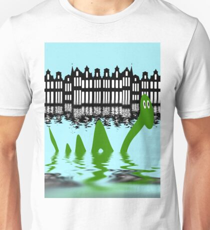 Loch Ness Monster on holiday in Amsterdam Unisex T-Shirt