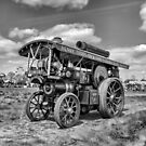"""Showmans Engine """"Lord Nelson"""" Black and White by Avril Harris"""