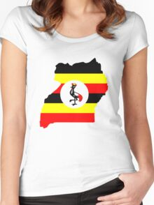 Flag of Uganda Women's Fitted Scoop T-Shirt