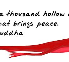 Lizard Zenimal with Buddha Quote by Allyson Hicks