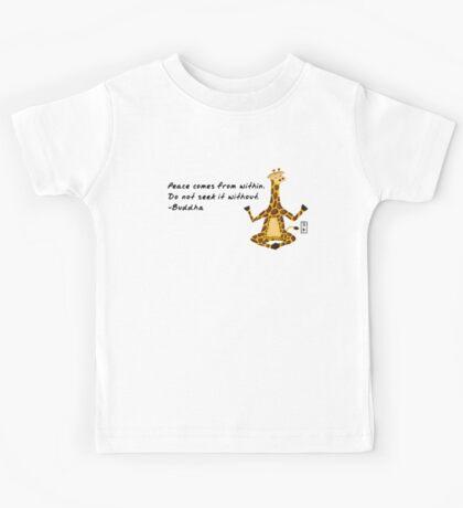 Giraffe Zenimal with Buddha Quote Kids Tee