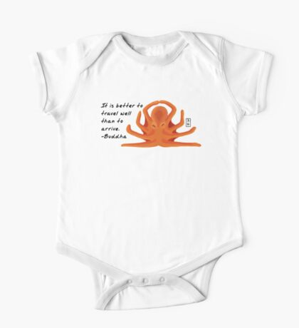 Octopus Zenimal with Buddha Quote One Piece - Short Sleeve