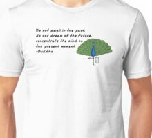 Peacock Zenimal with Buddha Quote Unisex T-Shirt