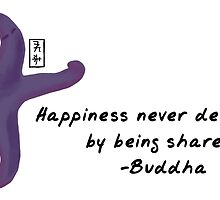 Starfish Zenimal with Buddha Quote by Allyson Hicks