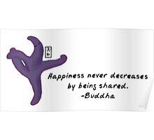 Starfish Zenimal with Buddha Quote Poster