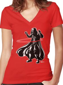 Darth Vader loves to Hula Hoop Women's Fitted V-Neck T-Shirt