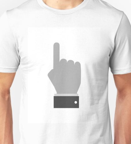 Hand with pointing finger Unisex T-Shirt