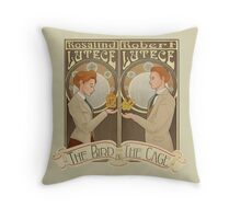 Lutece Twins Nouveau Throw Pillow