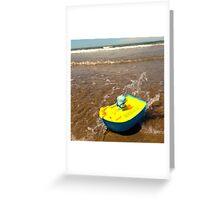 Babo sails the high seas! Greeting Card