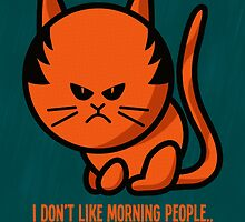 This grumpy cat is not a morning person by Richard Eijkenbroek