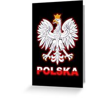 Polska - Polish Coat of Arms - White Eagle Greeting Card