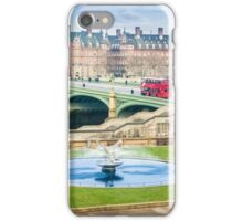 Water Fountain and London Bus iPhone Case/Skin