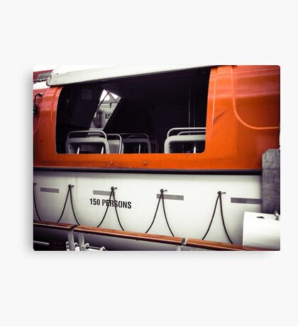Open Lifeboat Canvas Print