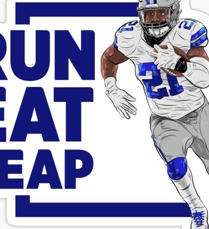 Run Eat Leap Sticker