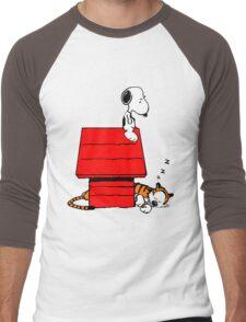 Snoopy and Hobbes Men's Baseball ¾ T-Shirt