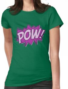 POW! COMIC BOOK Graphic Womens Fitted T-Shirt