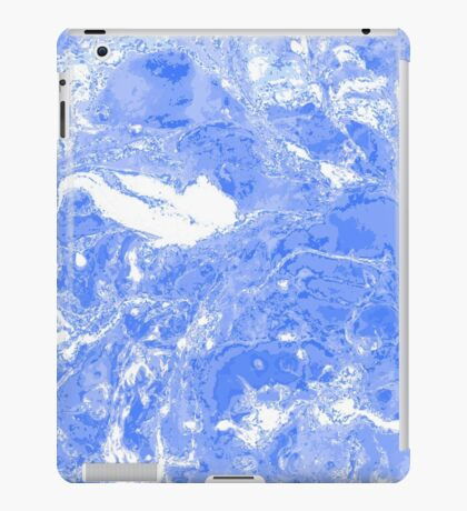 Blue and white marble texture.  iPad Case/Skin
