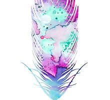 Feather 5 by Watercolorsart